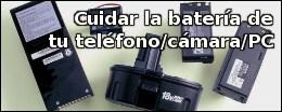 Cuidar la batería de tu teléfono/cámara/PC